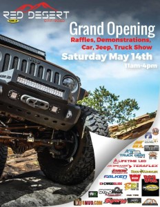 Red Desert Off-Road Grand Opening - off-road suv parts st. george