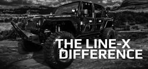Black Jeep in Desert - The Line-X Difference - truck bed liner st. george