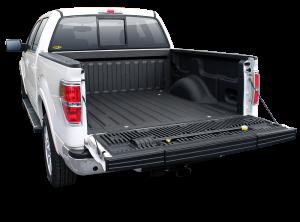 White Truck With Black Bedliner - truck bed liner st. george