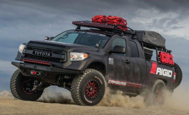 black Toyota truck