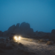 Off-Road Vehicle Driving At Night - off-road parts store st. george