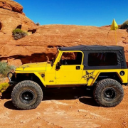 Yellow Off-Road Vehicle In Desert - off-road accessories store st. george