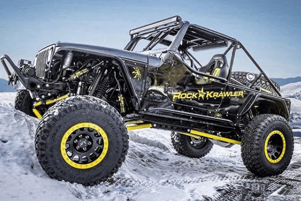 Rock Krawler Off-Road Vehicle In Snow - off-road truck accessories st. george