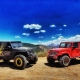 Two Jeeps In The Desert - off-road truck accessories st. george