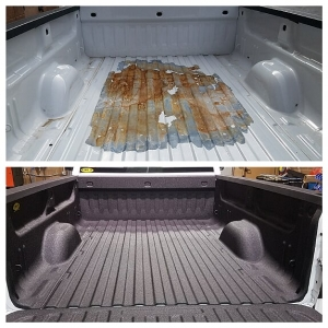 Truck Bed Liner Before And After - spray on bed liner st. george